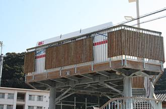 タジマの浮揚式津波洪水対策用シェルター SAFE+(セーフプラス)
