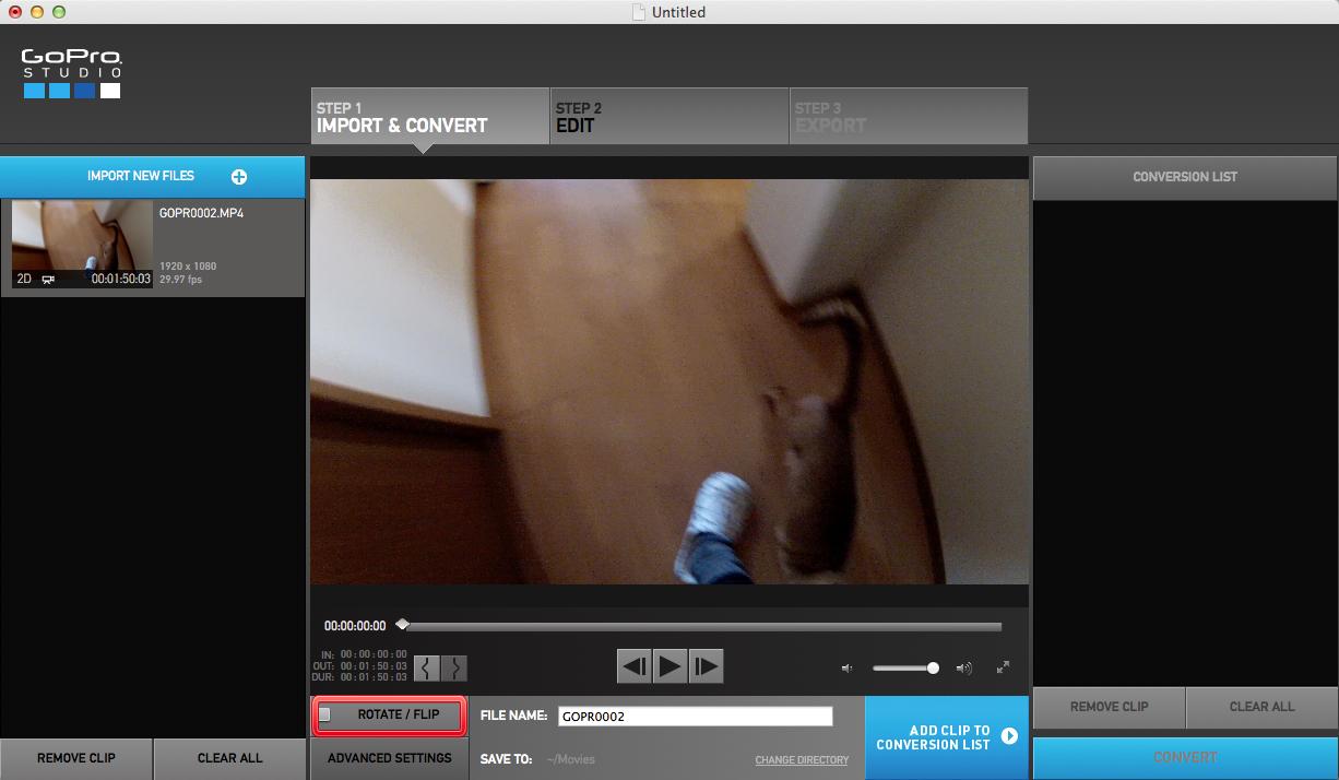 動画の補正