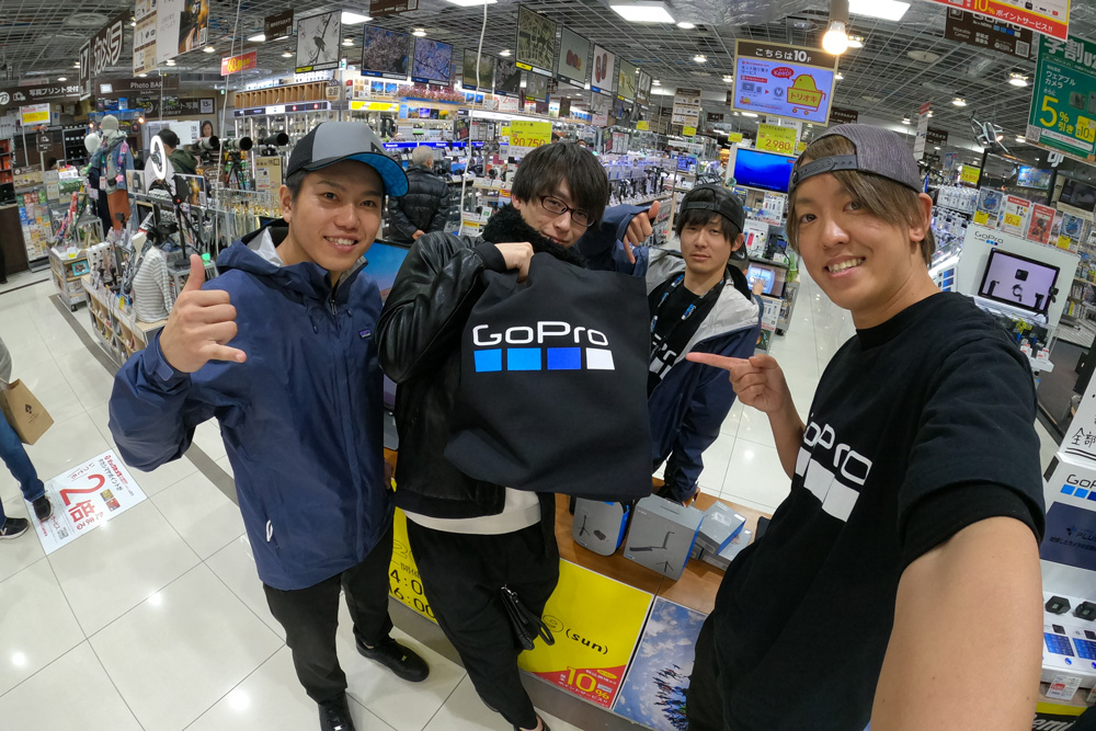 GoPro Demonstration Event 'GoPro Tryout' (+ Special deals on merchandise) February 8 - 9 @ BicCamera Nagoya JR GATE TOWER Store